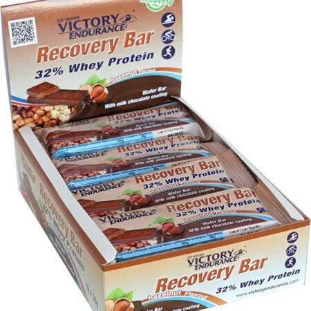 weider recovery protein bar hazelnut display 50g