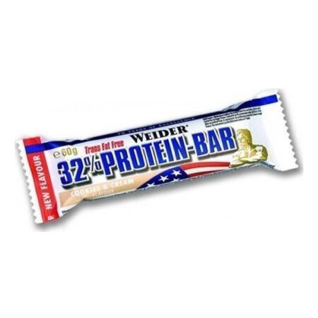 weider 32 protein bar 12 x 60gr cookies cream