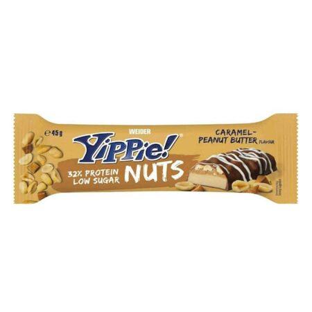 weider yippie bar gr caramel peanut butter