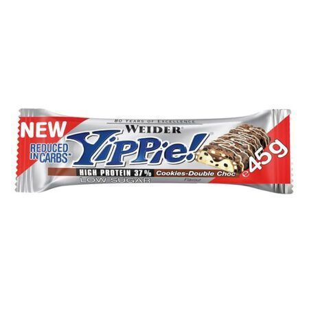 yippie nuts weider cookies double choc 45g