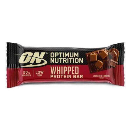 optimum nutrition whipped protein bar 60gr caramel chocolate