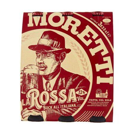 birra moretti la rossa 3 x 33 cl
