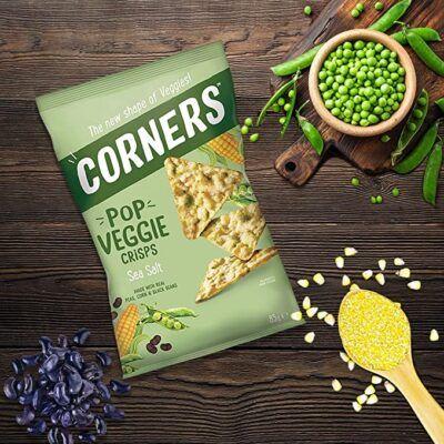 corners pop veggie crisps 28g 2