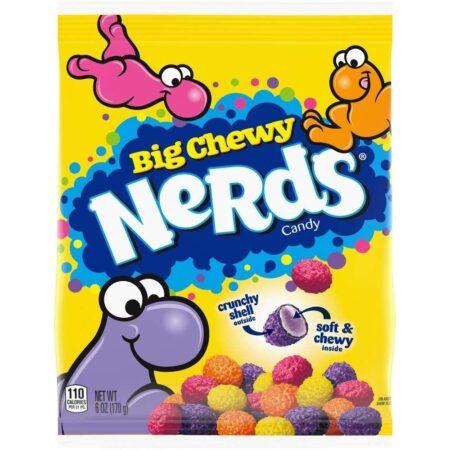 ferrara big chewy nerds peg bag 170g candy