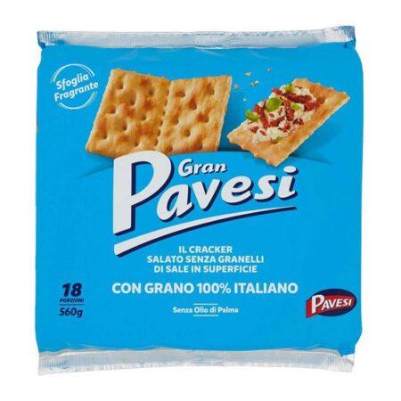 gran pavesi low salt crackers  g