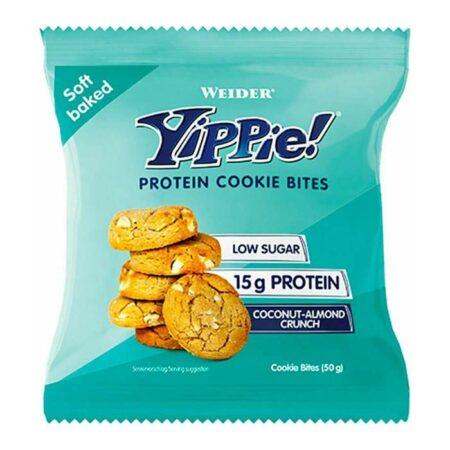 weider yippie protein cookie bites coconut almond crunch gr