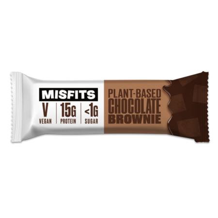 SINGLE BAR MISFITS VEGAN PROTEIN BARS UK CHOCOLATE BROWNIE