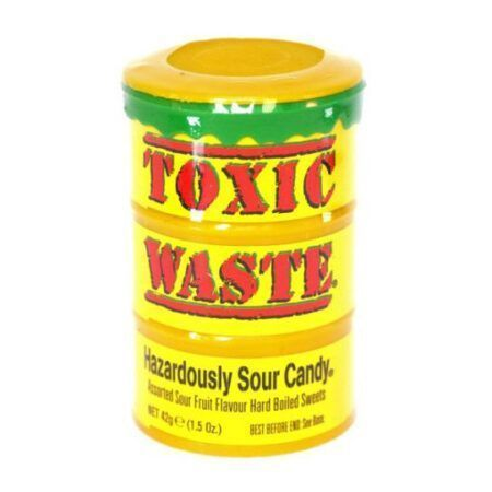 Toxic waste yellow drum