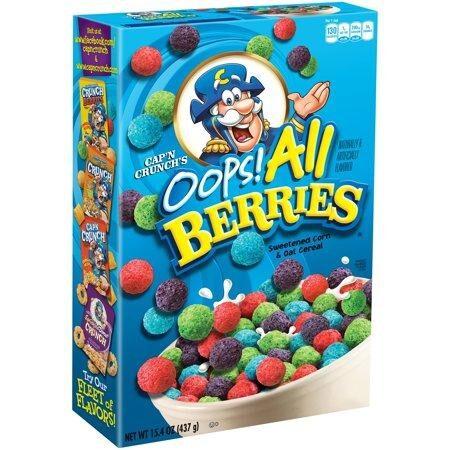 Capn Crunch Oops All Berries Cereal