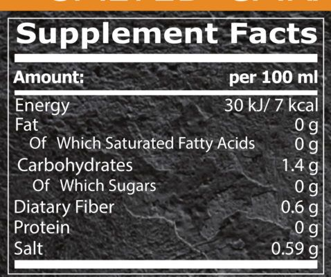 ZERO SYRUP CARAMEL pure nutrition facts