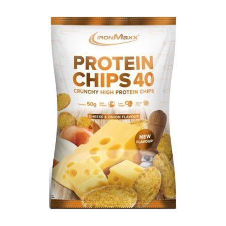 ironmaxx protein chips 50g cheese onion