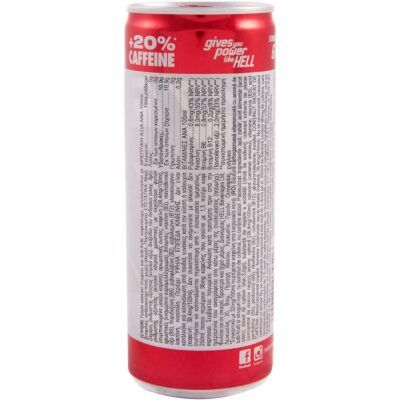 Hell energy drink energeiako poto Strong Red Grape 250ml facts