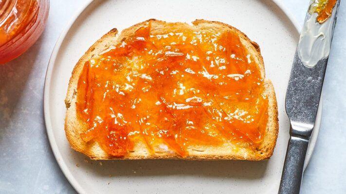 orange marmalade jam and jelly