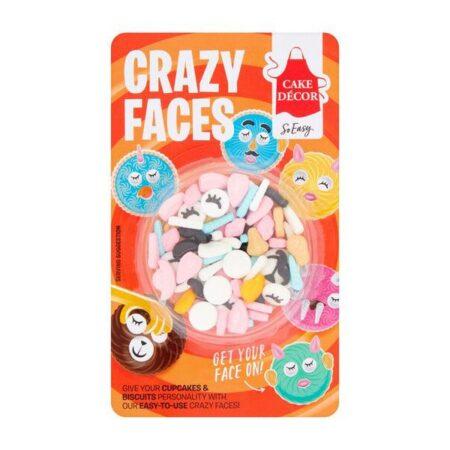 Cake Decor Crazy Faces
