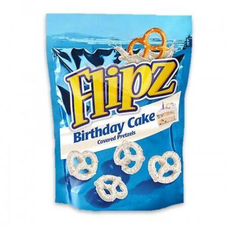 flipz birthday cake pretzel  gr