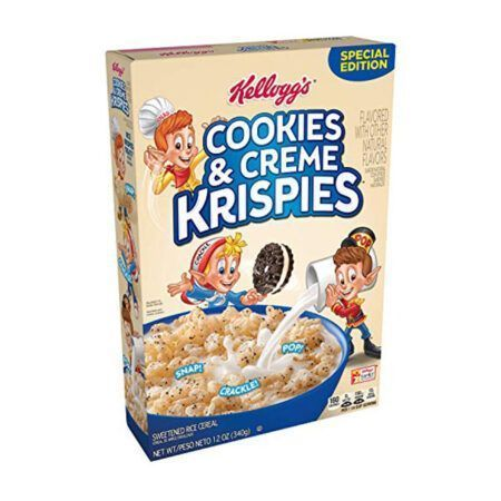 kelloggs Krispies Cookies Creme cereal g