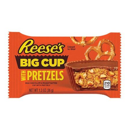 reeses big cup stuffed with pretzels