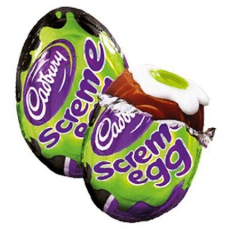 cadbury screme egg with green yolk